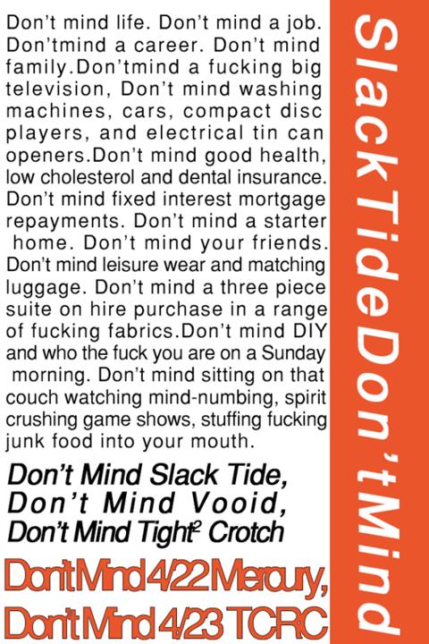 Slack Tide [Don't Mind] Tour w/ VOOID