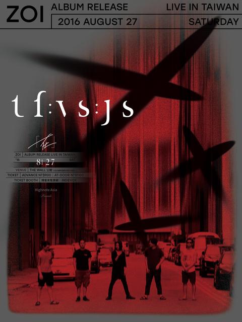 "tfvsjs ""zoi"" Album Release Live in Taiwan"